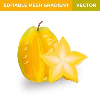 Ilustração de fruta carambola