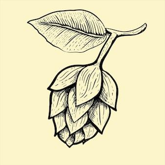 Ilustração, de, fruta cerveja
