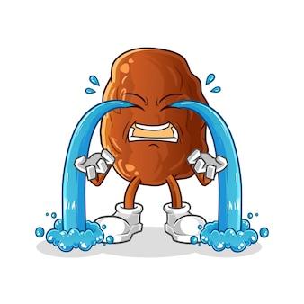 Ilustração de fruta chorando