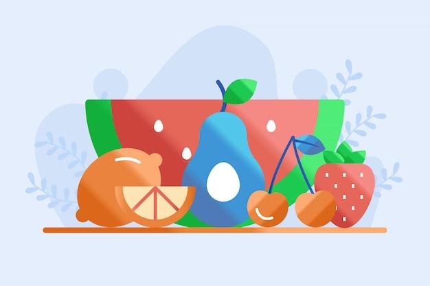 Ilustração de frutas