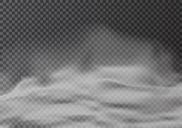 Ilustração de fumaça ou neblina realista