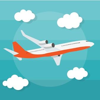 Ilustração de fundo abstrato avião