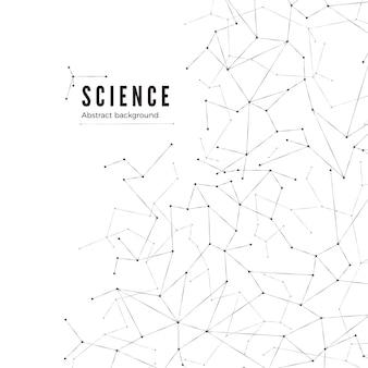 Ilustração de fundo abstrato de ciência