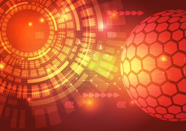 Ilustração de fundo abstrato de circuito de tecnologia digital