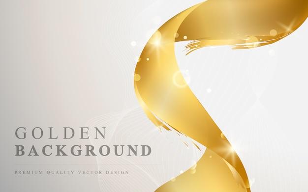 Ilustração de fundo abstrato de onda de ouro
