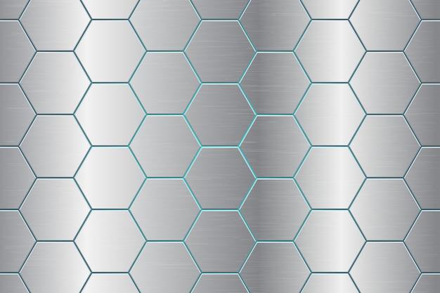 Ilustração de fundo abstrato de pente metálico