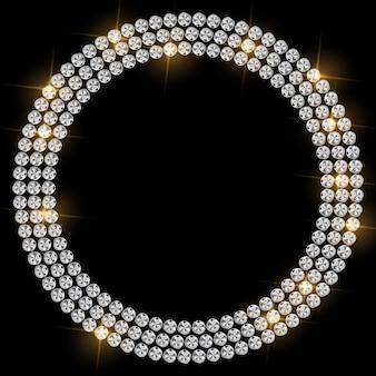 Ilustração de fundo abstrato diamante preto de luxo