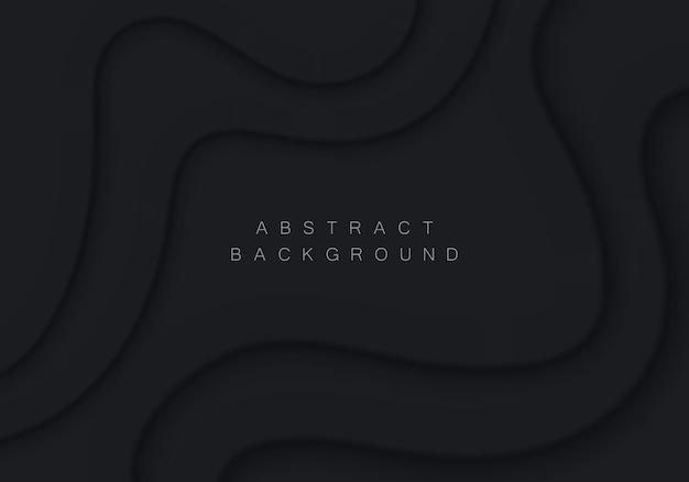 Ilustração de fundo abstrato em estilo neomorfismo cenário mínimo fluxo de onda