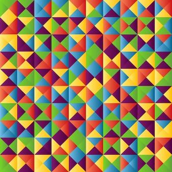 Ilustração de fundo abstrato geométrico colorido.