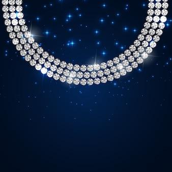 Ilustração de fundo abstrato luxo diamante preto
