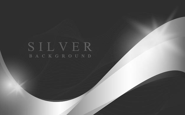 Ilustração de fundo abstrato onda prata