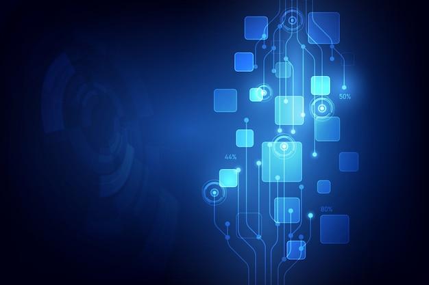 Ilustração de fundo abstrato tecnologia digital vector