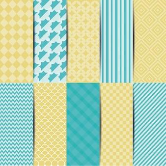 Ilustração de fundo com diferentes padrões