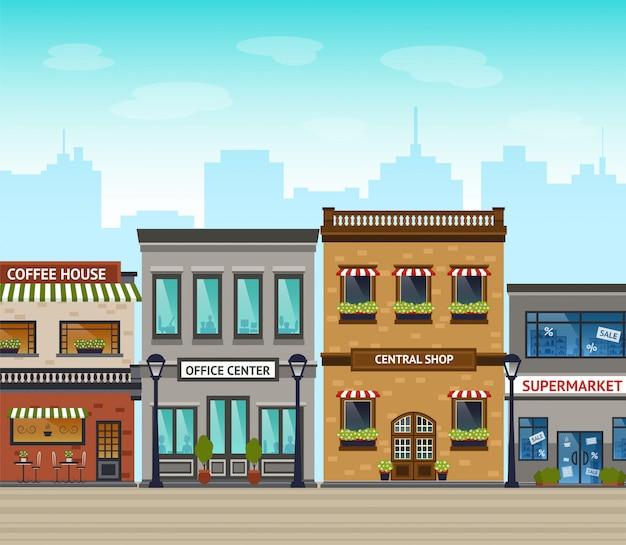 Ilustração de fundo da cidade