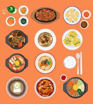 Ilustração de fundo de alimentos