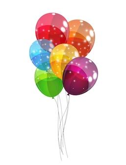 Ilustração de fundo de balões coloridos