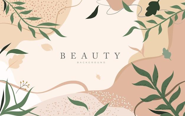 Ilustração de fundo de beleza