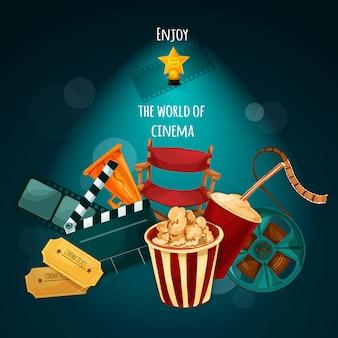 Ilustração de fundo de cinema