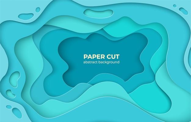 Ilustração de fundo de corte de papel