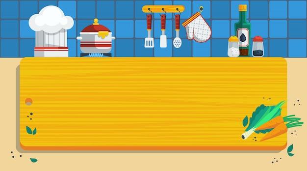 Ilustração de fundo de cozinha