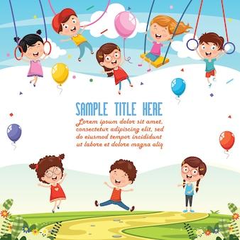 Ilustração de fundo de crianças
