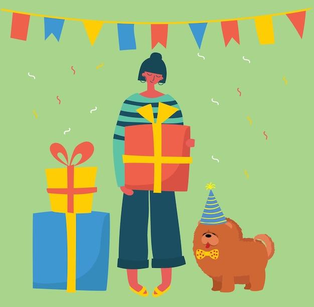 Ilustração de fundo de feliz aniversário