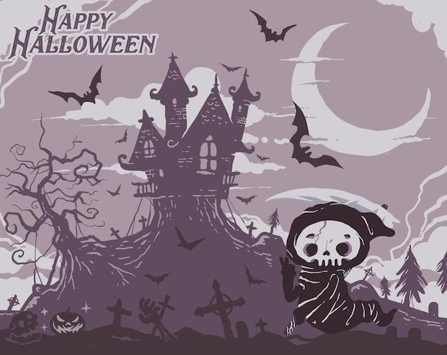 Ilustração de fundo de festa de halloween