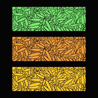 Ilustração de fundo de folhas de bambu