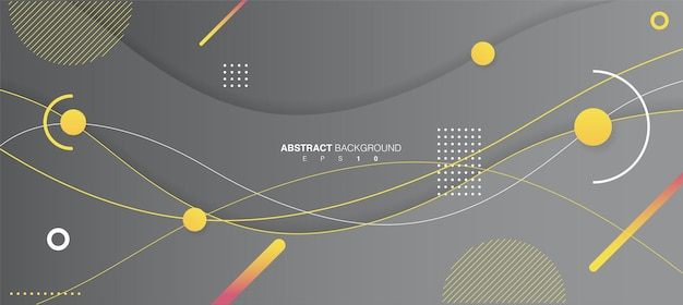 Ilustração de fundo de formas onduladas abstratas