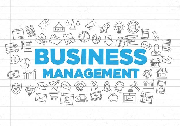 Ilustração de fundo de gestão de negócios criativos