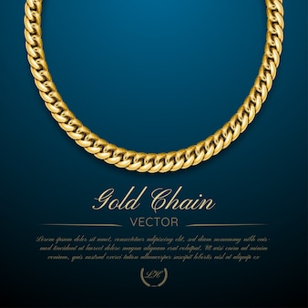 Ilustração de fundo de jóias de corrente de ouro