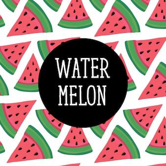 Ilustração de fundo de melancia vector cor fresca doce