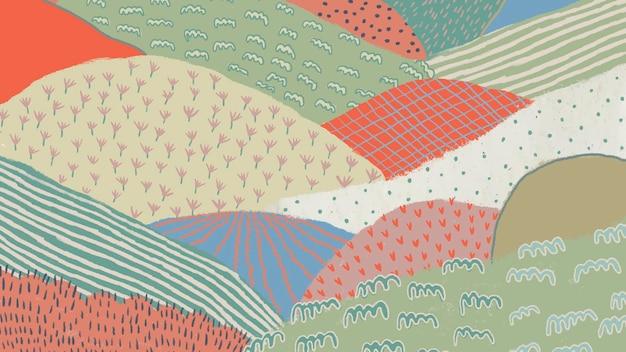 Ilustração de fundo de paisagem abstrata