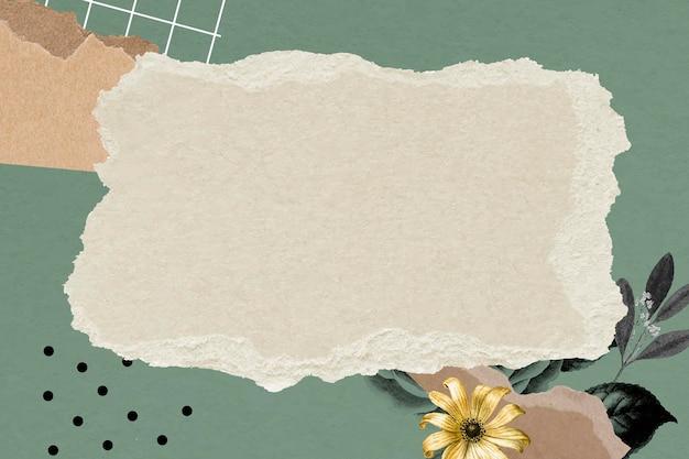 Ilustração de fundo de papel de parede de moldura de colagem vintage, textura de papel vetorial com espaço de design