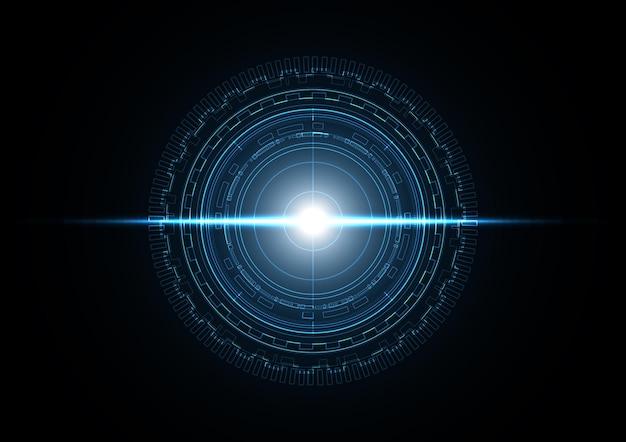 Ilustração de fundo de radar de círculo futuro abstrato de tecnologia