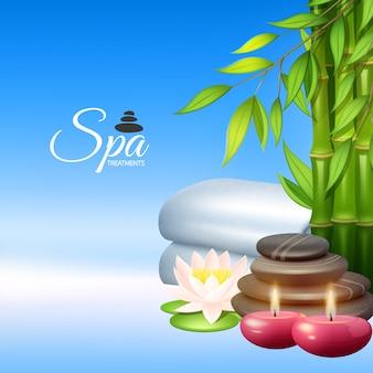 Ilustração de fundo de spa