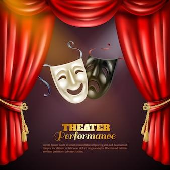 Ilustração de fundo de teatro