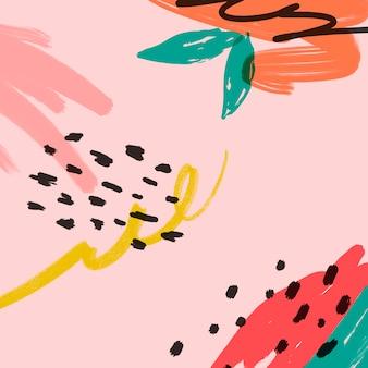 Ilustração de fundo de verão memphis