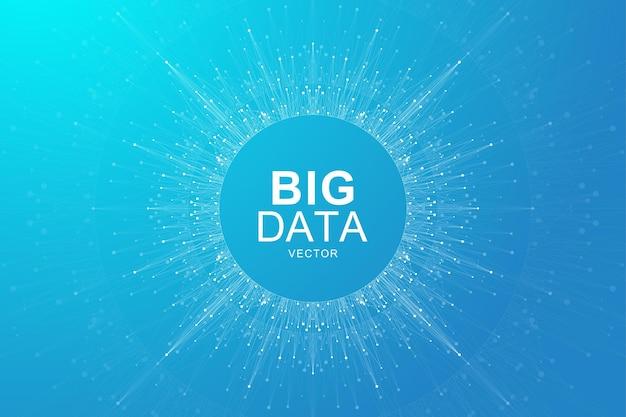 Ilustração de fundo de visualização de big data