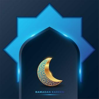 Ilustração de fundo do cartão islâmico ramadan kareem