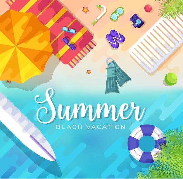 Ilustração de fundo do período de verão