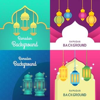 Ilustração de fundo do ramadã