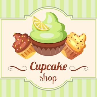 Ilustração de fundo doce loja