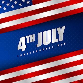 Ilustração de fundo feliz dia da independência da américa