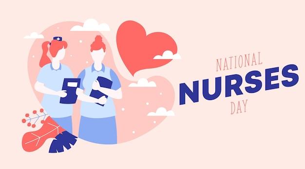 Ilustração de fundo feliz do dia das enfermeiras