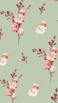Ilustração de fundo floral vintage