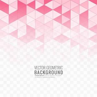 Ilustração de fundo geométrico rosa linda