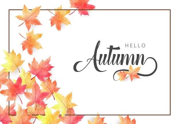 Ilustração de fundo outono aquarela