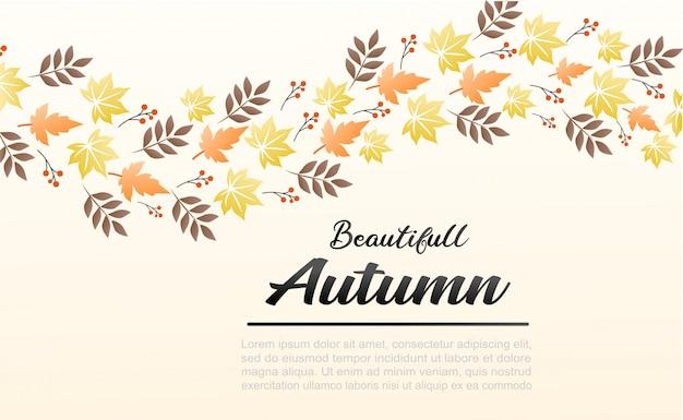 Ilustração de fundo outono. pode ser usado como banner e para mídias sociais