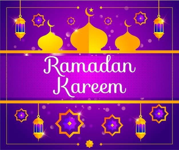 Ilustração de fundo ramadan kareem